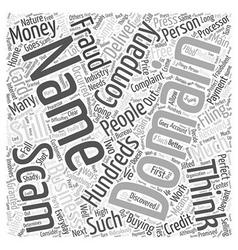 Scam Domain Names Word Cloud Concept vector image