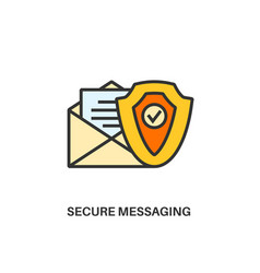 secure messaging icon vector image
