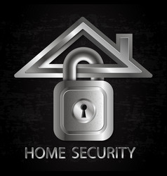 security home symbol vector image