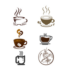 set of coffee logo templates vector image