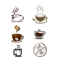 set of coffee logo templates vector image