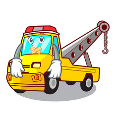 Silent tow truck for vehicle branding character vector