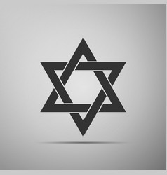 star of david icon isolated on grey background vector image