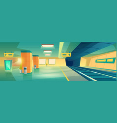 Subway metro underground station interior vector