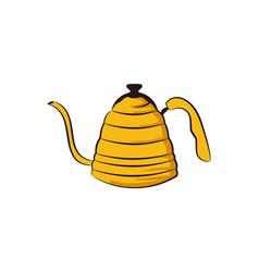 tea pot logo designs inspiration isolated on vector image