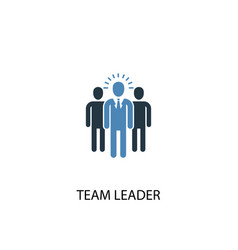 Team leader concept 2 colored icon simple blue vector