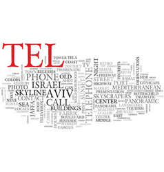 Tel word cloud concept vector