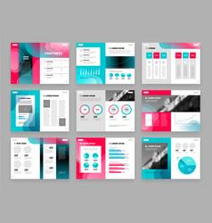 template brochure set vector image