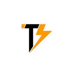 Thunderbolt tb logo vector