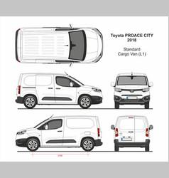Toyota proace city cargo van l1 2018-present vector