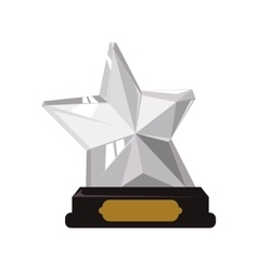 Trophy star icon winner design graphic vector