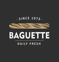 Vintage style bakery shop simple label badge vector