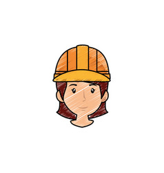 Woman worker cartoon vector