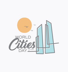 world cities day vector image