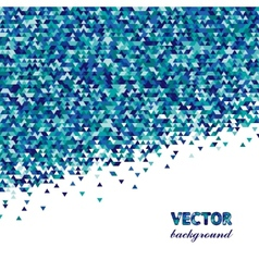Abstract background with triangles in blue vector image
