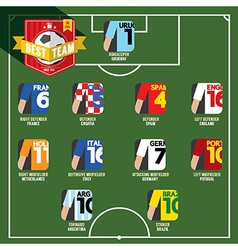 Best Team Soccer of Football vector image vector image