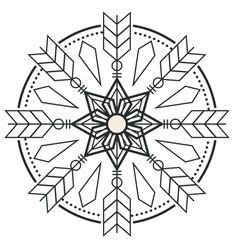 circle arrow design tattoo image vector image