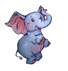 elephant in cartoon style vector image vector image