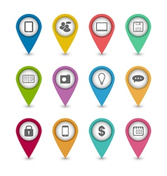 Group business pictogram icons for design your vector image