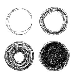 pencil drawn circles vector image