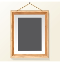 Photo Frame on Wall Image vector image