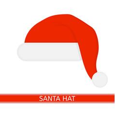 santa claus red hat vector image