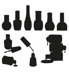 Set of Nail Polish Bottles vector image