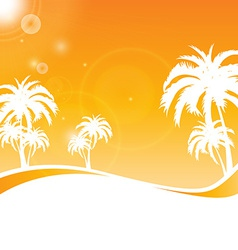 tropical scene vector image