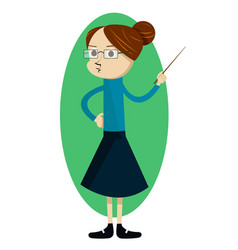 woman teacher character with a pointer vector image