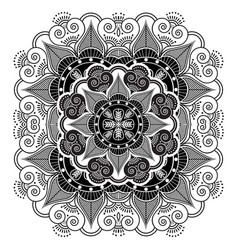 asian culture inspired by monochrome mandala vector image vector image