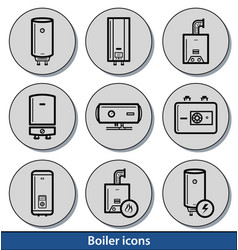 light boiler icons vector image vector image