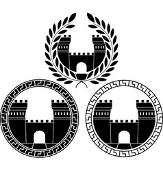 set of castle gates vector image