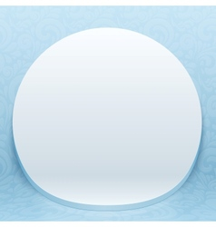 White realistic plastic round backdrop vector image vector image