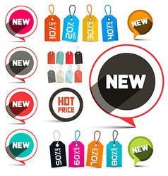 Business Labels - Stickers with New Title and vector image vector image