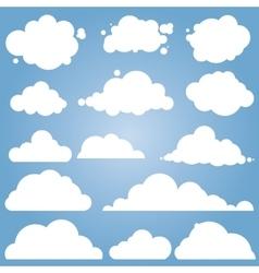 different cloud set vector image