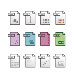 File extension icons vector image vector image