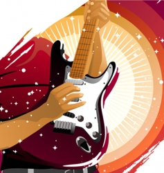playing guitar vector image vector image