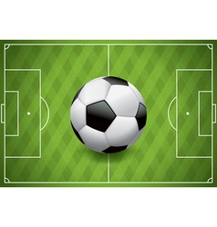 Soccer Football on Realistic Textured Field vector image vector image