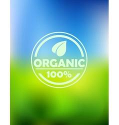 Bio organic label vector image vector image
