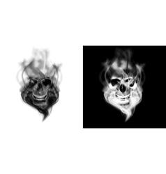 human skull in the smoke vector image