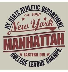 New York Sport t-shirt graphics vector image vector image