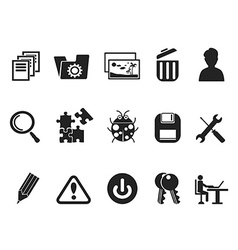 Software and IT program Developers icon set vector image vector image