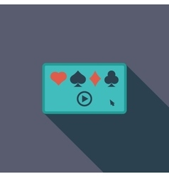 Video game flat icon vector image