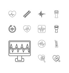 13 beat icons vector