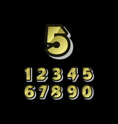 5 years anniversary celebrations set number vector
