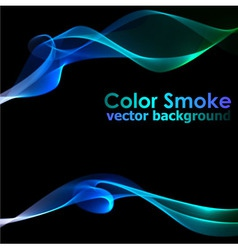 Abstract blue smoke background vector