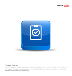 add plus icon - 3d blue button vector image