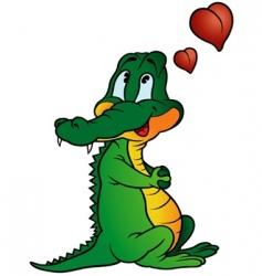amorous crocodile vector image