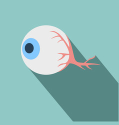 Anatomy eye icon flat related icon with long vector