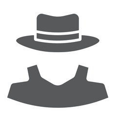Anonymity glyph icon detective and private vector